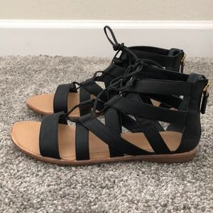 Franco Sarto Gladiator Style Sandals - Size 8